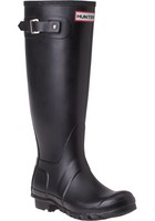 Hunter Boots Original Tall Gloss Boot in Black Size 10