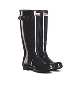 HUNTER BOOTS ORIGINAL TALL MATTE BOOT IN NAVY IN SIZE 8