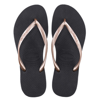 Havaianas Slim Mix Black and Rose Gold