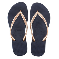 Havaianas Slim Mix  Navy Blue and Rose Gold