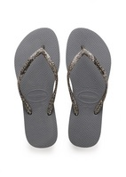 Havaianas Slim Logo Metallic Sandal Steel Grey