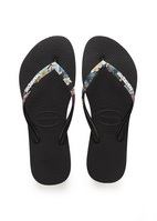Havaianas Slim Tropical Straps Sandal Black