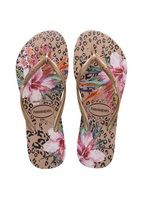 Havaianas Slim Animal Floral Sandal Crocus Rose