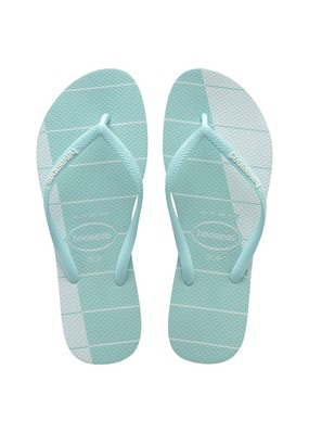 Havaianas Slim Trio Stripes Sandal Ice Blue