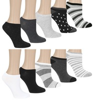 Capelli Stripe Pop 10 Pack No Show Socks