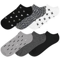 Capelli Socks 6 pack super soft no show socks with triangle symbols