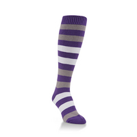 Crescent Socks Team Rugby Knee High Royal BlueWhiteGrey