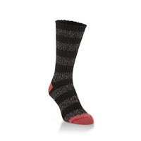 Crescent Sock  Ragg Crew Eclipse Stripe
