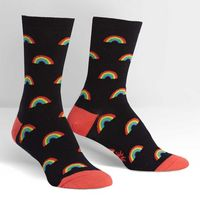 SITM  Retro Rainbow Crew Socks