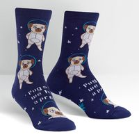 Sock It To Me Pugston, We Have a Problem Crew Socks
