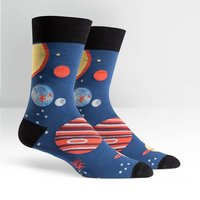 Sock It To Me Mens Crew Sock Planets