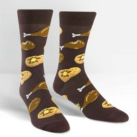 Sock It To Me Mens Crew Sock Chicken & Waffles