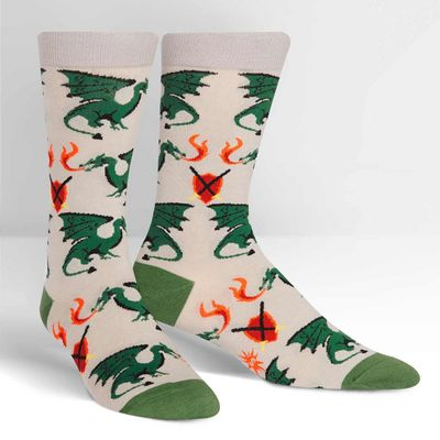 SITM  Beware of Dragons Crew Socks
