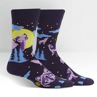 6 Wolf Moon Crew Socks