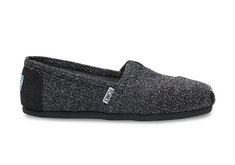 Toms Canvas Womens Classic, Black Marled