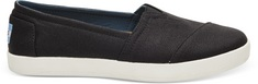 Toms Avalon SlipOn in Black Coated Canvas