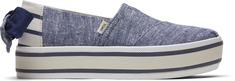 Toms Alpargata Boardwalk Navy Chambray