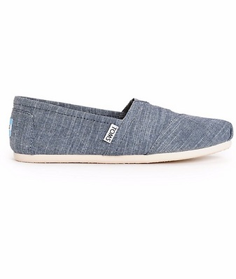 TOMS BLUE SLUB CHAMBRAY