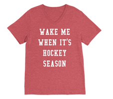 RUBYS RUBBISH Wake me When Its Hockey Season, VNeck