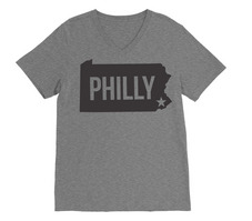 Rubys Rubbish  Philadelphia V Neck Tee
