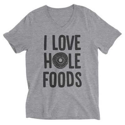 Rubys Rubbish  I Love Hole Foods V Neck Tee