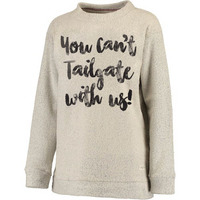 Rubys Rubbish You Cant Tailgate With Us Grey Pullover