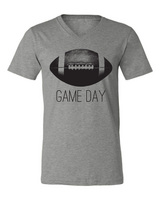 Rubys Rubbish Game Day Heather Gray V Neck