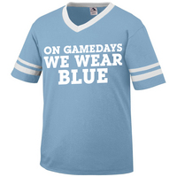 Rubys Rubbish On Game Days Light Blue Ringer