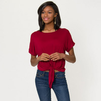 Flying Colors Tia Tie Front Top