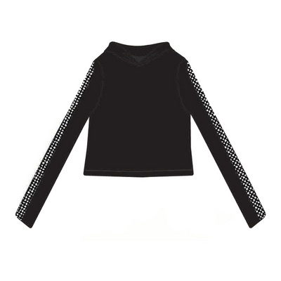 Suzette Yummy Crop Hoodie with Mesh Sleeves