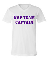 Rubys Rubbish Nap Team Captain VNeck (Purple Writing)