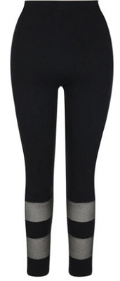 CAPELLI Jersey Legging with Sheer Mesh Stripe Panels