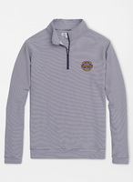 Peter Millar National Champions Perth Mini Stripe Quarter Zip