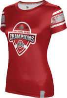2019 Bowl Game Champions ProSphere Womens Sublimated Tee  Endzone Design