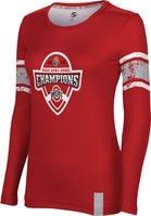 2019 Bowl Game Champions ProSphere Womens Sublimated Long Sleeve Tee  Endzone Design