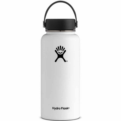 Hydro Flask 32oz Wide Mouth with Flex Lid  White