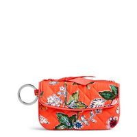 Vera Bradley Iconic Jen Zip ID Coral Floral
