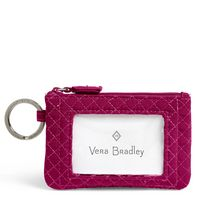 Vera Bradley Iconic Zip ID Case Passion Pink