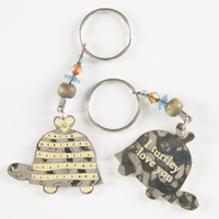 Natural Life Token Keychain TurtleTurtley Love