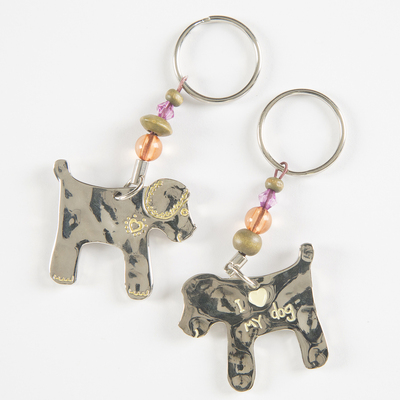 Natural Life Token Keychain Dog I (Heart) My Dog