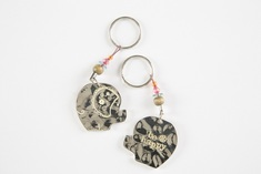 Token Key Chain Elephant Be Happy