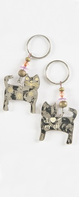 Natural Life Token Keychain Cat I (Heart) My Cat