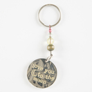 Natural Life Token Keychain Love You Moon