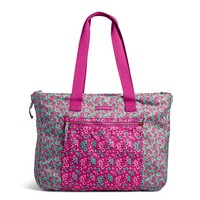 Vera Bradley Lighten Up Expandable Tote Floral Ditsy Dot Combo