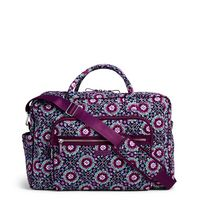 Vera Bradley Iconic Weekender Travel Bag Lilac Medallion