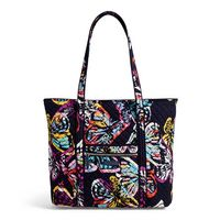 Vera Bradley Iconic Vera Tote Butterfly Flutter