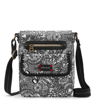 Sakroots Small Flap Messenger (Black & White Spirit Desert)