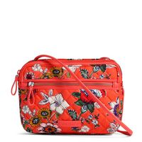 Vera Bradley Iconic RFID Little Crossbody Coral Floral