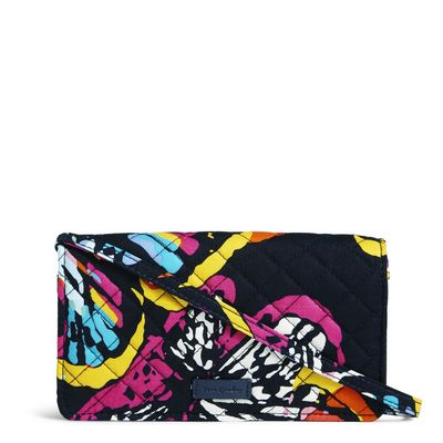 Vera Bradley Iconic RFID All Together Crossbody Butterfly Flutter