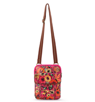 SakrootsWynnie Small Flap Messenger Raspberry In Bloom